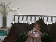 Wifey tearing up and masturbating using an assortment of hump toys