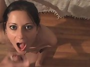 Cuckold hot southern wifey sucking, fucking and getting a facial from a stranger