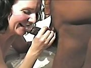 Cuckold white housewife completely satisfied by horny black fuckers group