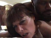 Bitchy mature brunette gets her pussy slammed