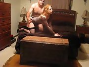 A sexy redhead wife named sally having fun with spouse