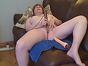 Chubby redheaded mature and her magic wand part one