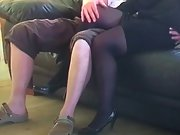 Mrs toodosex4u dressed to fuck for an old pal coming over