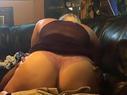 Blonde wifey having interracial sex on home couch