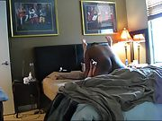 Granny legs restricted high over her head and getting long stroked into orgasm
