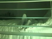 Spy cam through blinds recording wifey and husband down and dirty