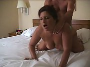 Cuckold wife gets anal in hotel apartment
